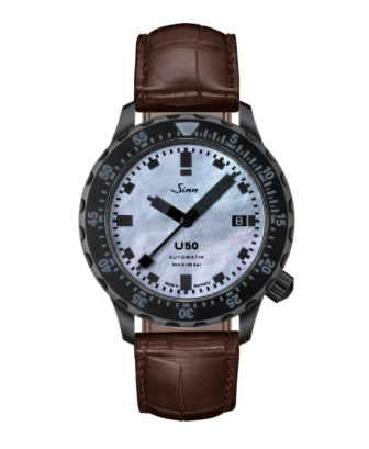 Sinn - U50 S Mother of Pearl - Brown Leather Strap options - 1050.0201
