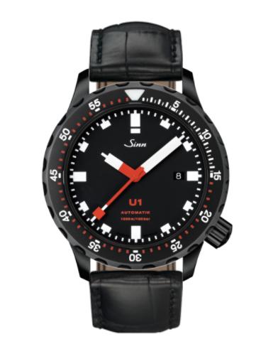 Sinn - U1 S - Black Leather Strap options -1010.020
