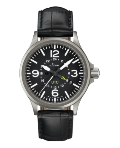 Sinn - 856 UTC - Black Leather Strap options - 856.010