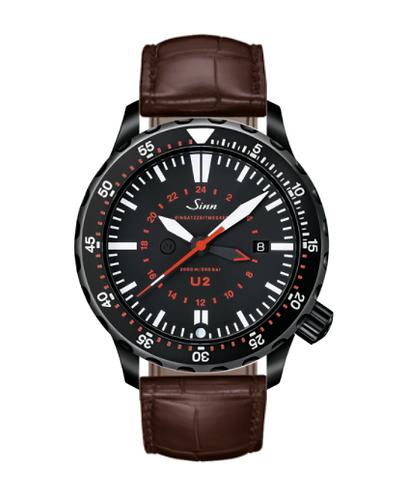 Sinn - U2 S (EZM 5) - Brown Leather Strap option - 1020.020