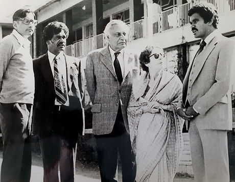 4---Delegate---with-Mahatma-Ghandi's-gra