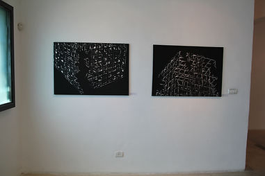 יצירות מתוך התערוכה של האמן בני אפרת - אתר חדרים