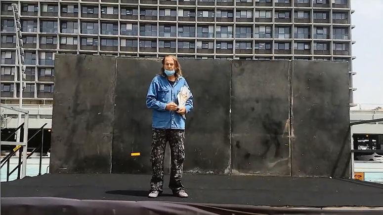 'דבר אל השיר' אתר 'חדרים'  - אברהם שיין - קו הגמר – צילום: יאיר בן־חיים