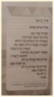 'השירה שלי' שירי ברוק שגיא 'המסדרון' גיליון 2 שיר ביום מוסף 'גלריה' בעיתון 'הארץ'