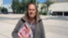 אברהם שיין - משורר הרחוב הראשון בישראל - אתר חדרים - צילום: יאיר בן־חיים
