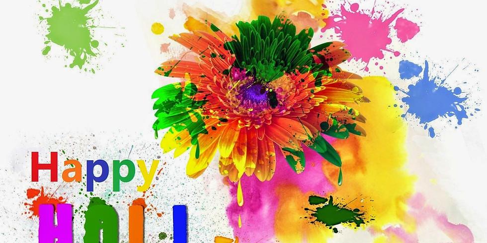 Holi With Flowers