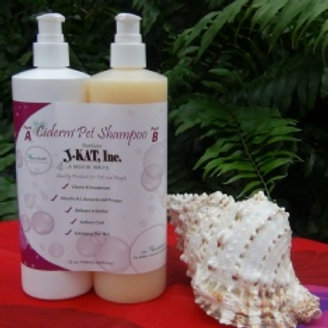 Ciderm Pet Shampoo 32 oz. Set