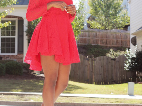 the red lace dress