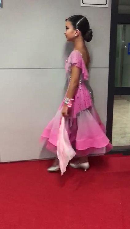 Junior standard rhinestone dress