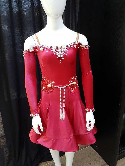 Robe latines strassée