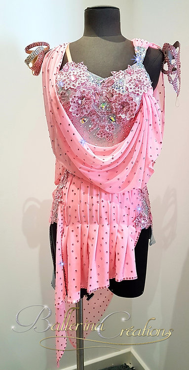 Latin rhinestone dress
