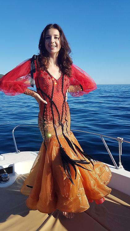 Standard dress with rhinestones