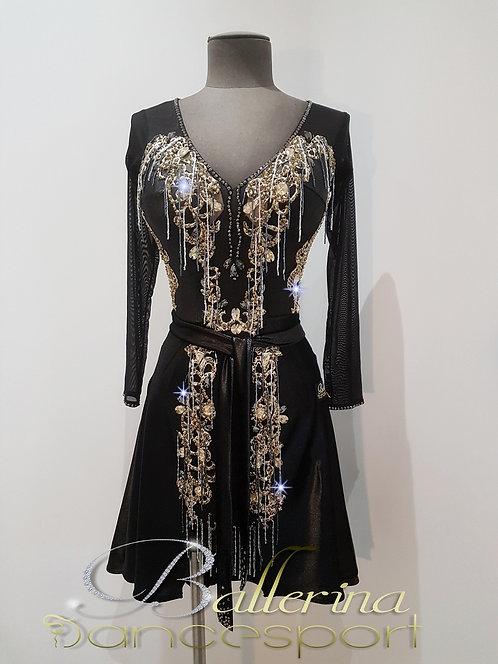 Latin rhinestone dress