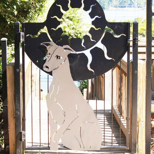 WHIPPET GARDEN GATE