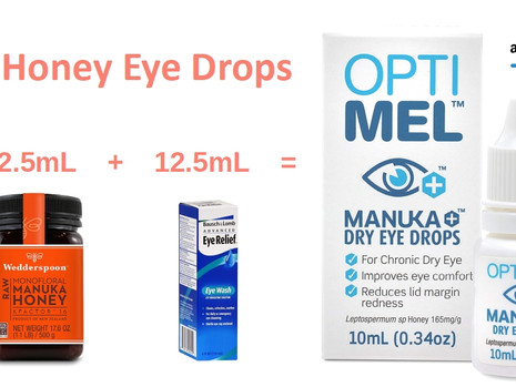DIY Manuka honey eye drops for lubricating and redness