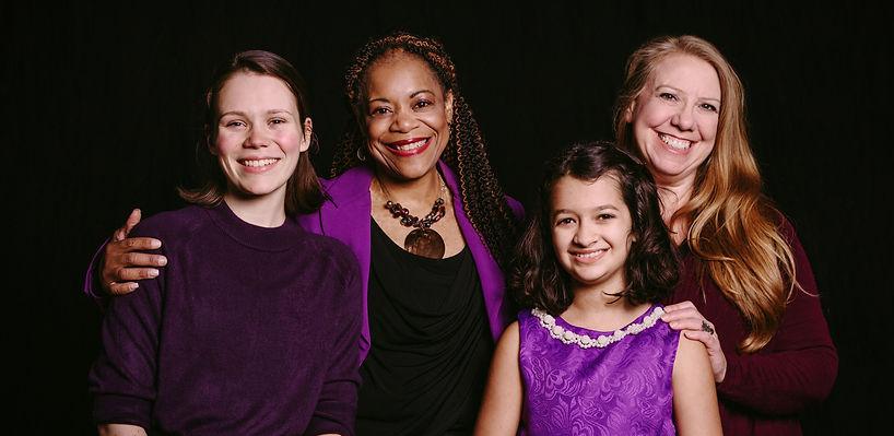 Open Stage Artists Caroline Chronister, Sharia Benn, Mina Ghani, Karen Ruck