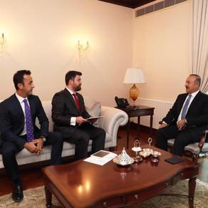 Dış İşleri Bakanımız Sn. Mevlüt Çavuşoğlu TABA Başkanını Makamında kabul etti
