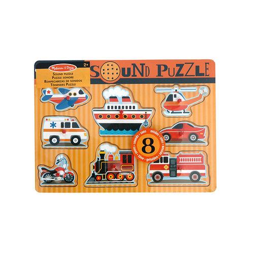 MELISSA & DOUG - Sound Puzzle Fahrzeuge