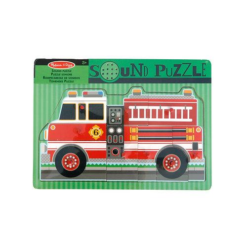MELISSA & DOUG - Sound Puzzle Feuerwehr
