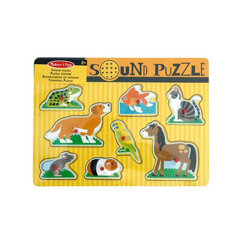 MELISSA & DOUG - Sound Puzzle Tiere