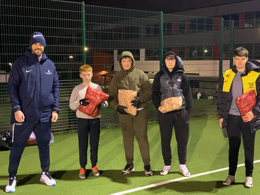 Carrick's Kit Bags delivered to hundreds of youngsters