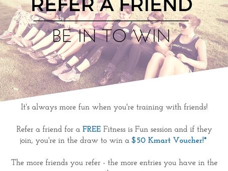 Refer a Friend September 2016