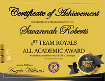 Savannah Roberts - 1st Team (Fall 2020).
