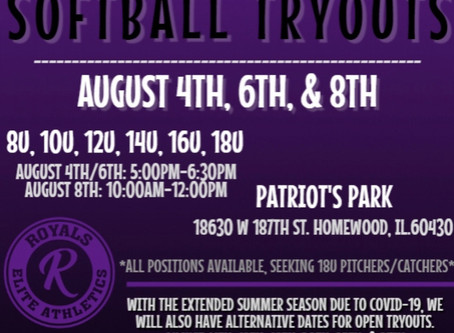 20'-21' Softball Tryouts