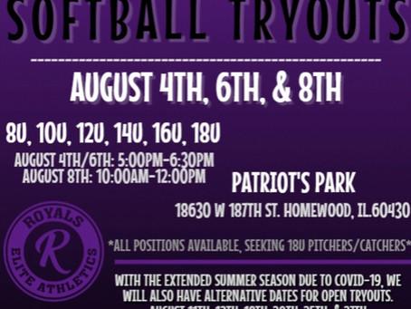20'-21' Softball Tryouts