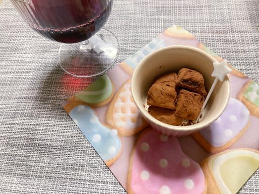 食感と香りを楽しむ♪赤ワインいちご生チョコレート