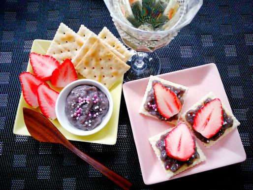 クラッカー&イチゴ 黒麹甘酒ディップ