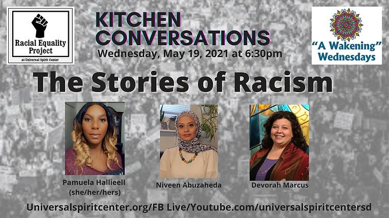 Stories of Racism Kitchen  Conversation.