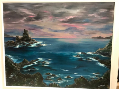 Cornish Coastline and Lighthouse