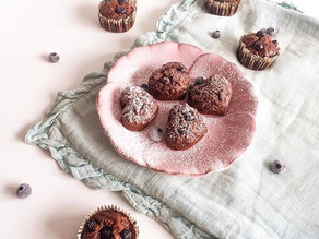 Muffits de chocolate y blueberries