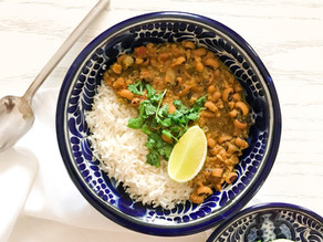 Curry de frijoles cabecita negra