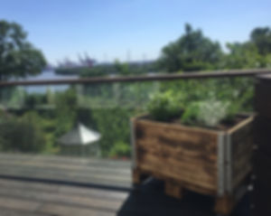 kleines Hochbeet Dachterrasse Hamburg