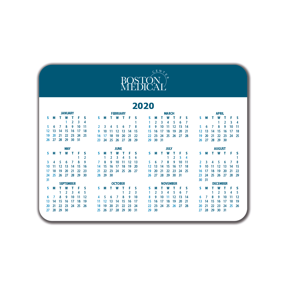 Boston Medical Mousepad Calendar