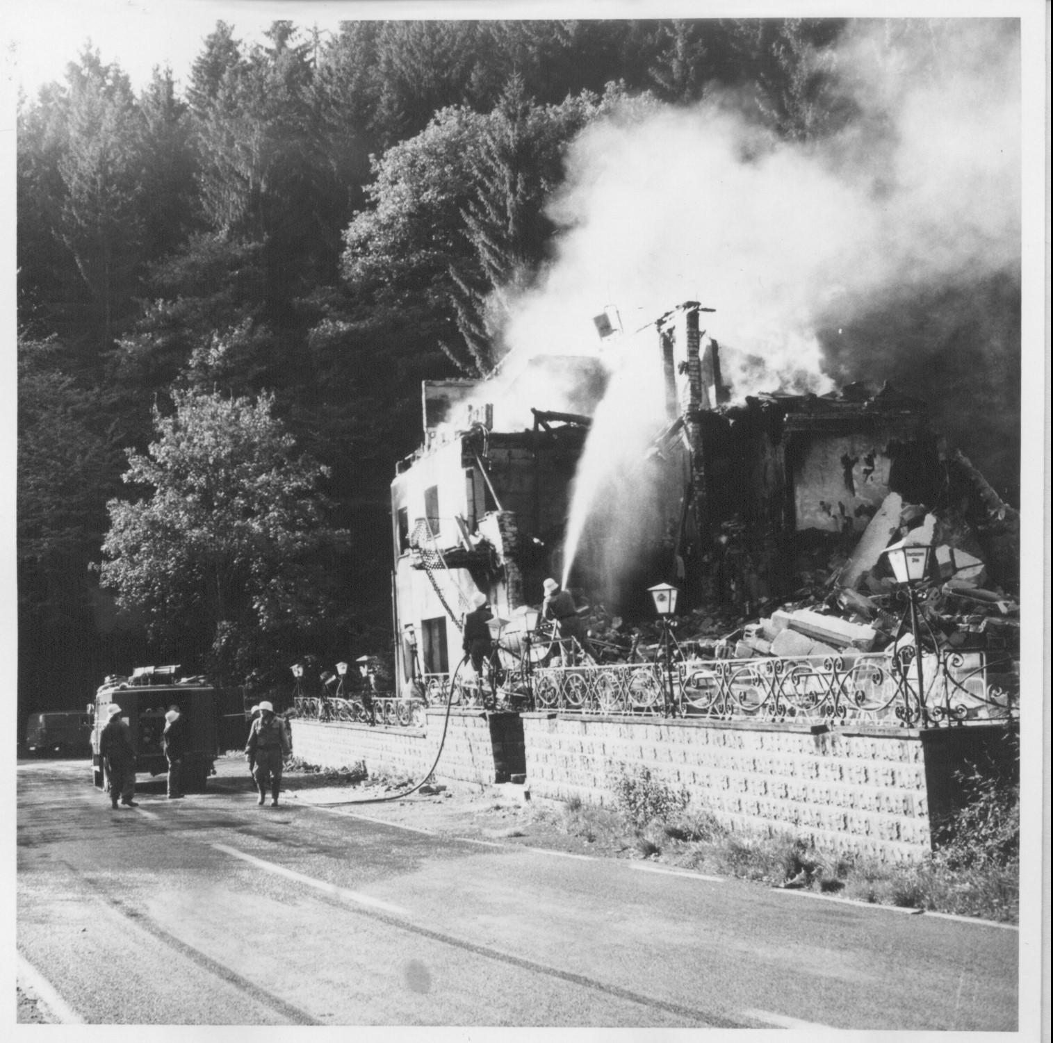 Brand der Hotel Fasel 1972