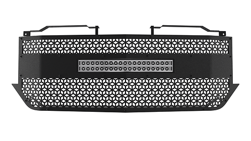 "CARBON STEEL '16-18 Chevrolet Silverado 1500 Grille with 20"" Light Bar"