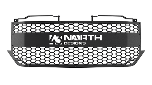 CARBON STEEL '16-18 Chevrolet Silverado 1500 Grille with Logo Accessory Plate