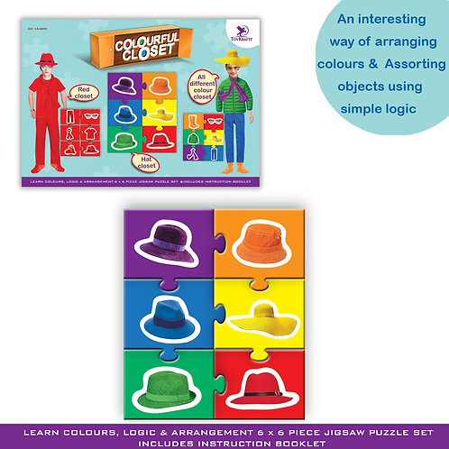 Colourful Closet - Logic Based Learning Game for Children Ages 5 6 7