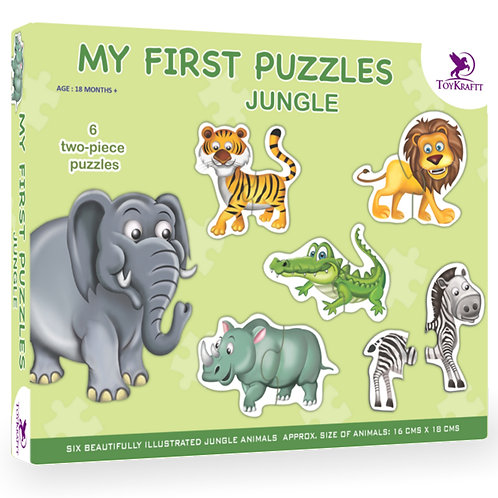 My First Puzzle - Jungle Animals - 6 Chunky Self-Correcting Matching P