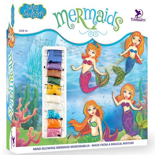 Toykraft - Sand & Sequin Craft Mermaids for kids