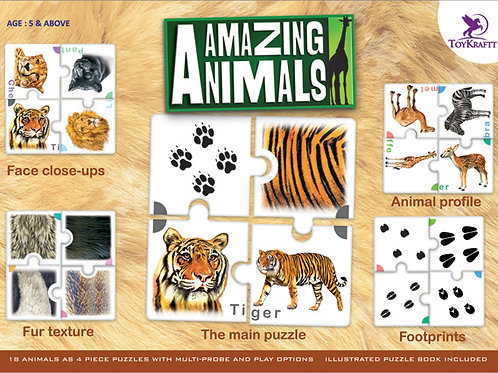 Toykraft Amazing Animal Puzzle for children