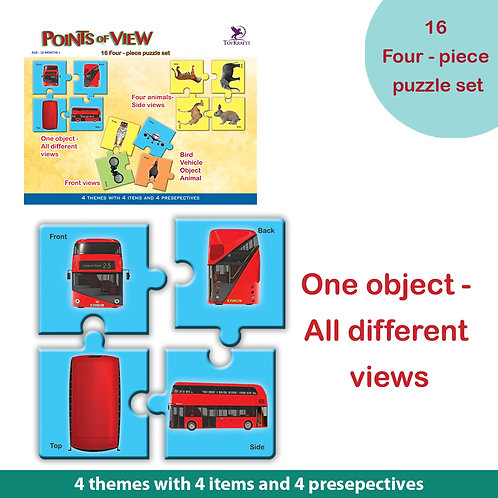 Points of View - 64 Self Correcting Jigsaw Pieces for Ages 5 6 7