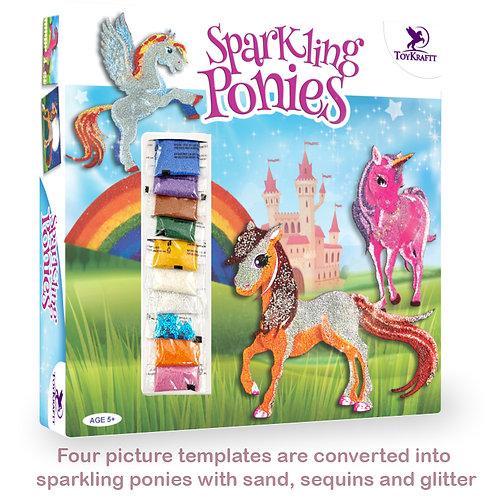 Toykraft sand sequin art ponies unicorns