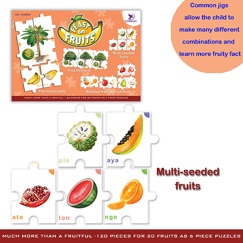 Learn about Fruits - educational puzzle for kids from Toykraft