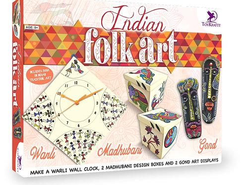 Toykraft Traditional DIY kit for children learn Madhubani, Warli & Gond for kids