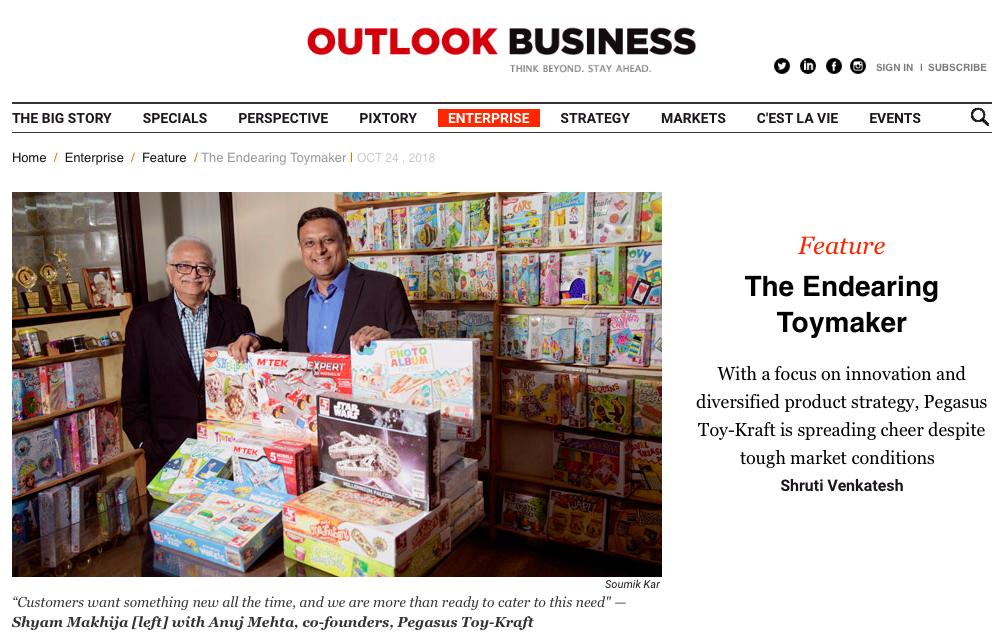 Toykraft | Outlook Business | OCT 2018