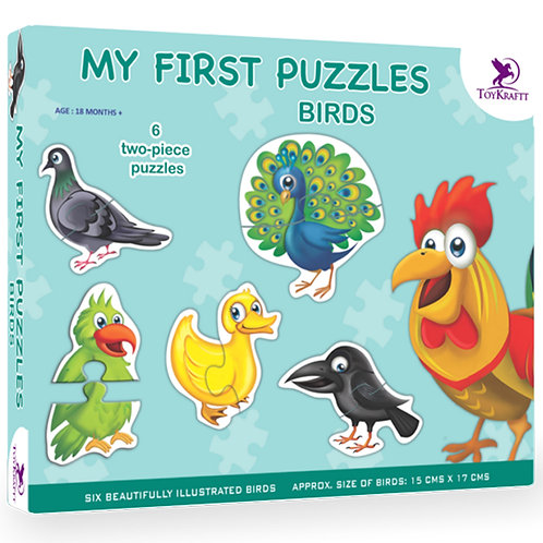 My First Puzzle - Birds - 6 Chunky Self-Correcting Puzzles